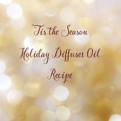 Fresh Picked Beauty: Holiday Cheer Diffuser Oil Blend