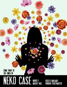 Neko Case gig poster By terraloire