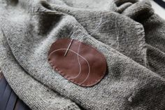 Putting Elbow Patches on a sweater