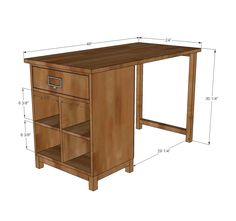 Ana White | Build a Schoolhouse Project Table Desk | Free and Easy DIY Project and Furniture Plans