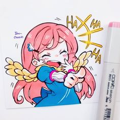 drawings of quotes Copic Drawings, Anime Drawings Sketches, Kawaii Drawings, Cute Drawings, Kawaii Chibi, Kawaii Art, Kawaii Anime, Copic Art, Copic Sketch