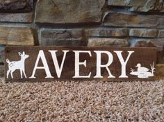 Rustic Woodland Baby Name Sign!