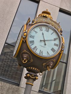 A street clock in New Orleans, Louisiana