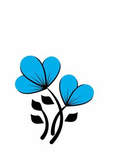 35 New Ideas For Nails Design Flower Easy Unique Drawings, Art Drawings Sketches, Easy Drawings, Easy Flower Painting, Flower Art, Blue Nail Designs, Paint Designs, Sunflower Drawing, Floral Banners