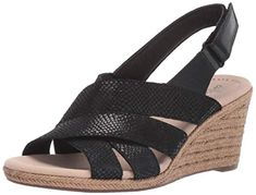 I really need these Clarks Women's Lafley Krissy Espadrille Wedge Sandal, Black/Suede Leather Combi, 100 M US Black Wedge Sandals, Strappy Sandals, Wedge Heels, Suede Leather, Black Suede, Soft Suede, Black 7, Slingback Sandal, Espadrille Wedge