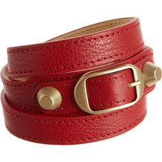Balenciaga Arena Classic Double Tour Bracelet ($215) ❤ liked on Polyvore