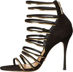 Amazon.com: Schutz Women's Myrna Black/Ouro Shoe: Clothing