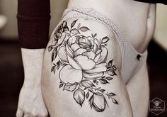 Flower tattoo Artist: Diana Severinenko
