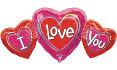 Our I Love You Balloon is one big way to show your special one how you feel! I Love You Balloon is shaped like three connected hearts and measures wide. I Love You Balloons, Giant Balloons, Foil Balloons, Party City Balloons, Balloon Party, I Love You Images, Love Heart Images, Most Beautiful Words, Beautiful Gif