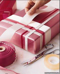 .Ribbon woven on present
