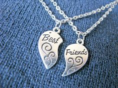 Excited to share the latest addition to my #etsy shop: The Best Friends necklace set, best friend heart silver charm, half heart necklace , heart charm necklace , BFF necklace, http://etsy.me/2EuLPjJ #jewellery #necklace #bestfriendnecklace #bffjewelry #bffnecklace #be