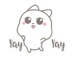 Cathreen 2 Happy Gif, Random Gif, Cute Love Gif, Gif Photo, Love Stickers, Kawaii Wallpaper, Cute Characters, Emoticon, Cheers