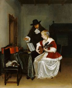 Gerard ter Borch (Dutch - The Music Lesson - Google Art Project (The J. Paul Getty Museum)