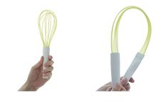 This whisk is designed Kwon Hansol to be a snap to clean.  It simply uses magnets to connect the handle which easily comes apart for cleaning or storage.