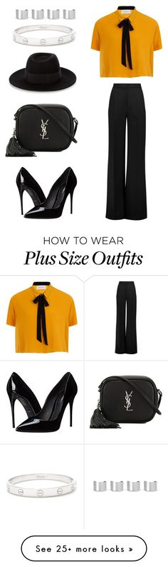 """Untitled #2006"" by ordinarydays on Polyvore featuring Roksanda, Yves Saint Laurent, Dolce&Gabbana, Maison Michel, Cartier and Maison Margiela"