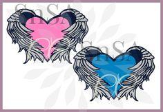 Svg Wings Angel Heart Heaven Harley Cricut by SHAREnShareALIKE