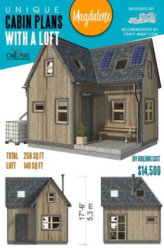 Magdalene is one of the most affordable tiny cabins with a loft. With quite a modest square footage, it surprisingly has everything you may dream of and it also looks very cute. Clear step-by-step construction plans with detailed instructions are provided. Don't wait any longer - order these plans! Earn Money From Home, Way To Make Money, Cabin Loft, Tiny Cabins, Stay At Home Mom, Money Matters, Online Jobs, Tiny House, How To Plan
