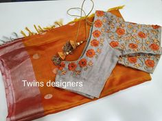Pattu saree paired with threadwork blouse for orders call Cutwork Blouse Designs, Wedding Saree Blouse Designs, Pattu Saree Blouse Designs, Simple Blouse Designs, Stylish Blouse Design, Blouse Patterns, Churidar Designs, Saree Wedding, Saree Embroidery Design