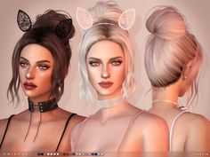 -21 colours (Hair)  Found in TSR Category 'Sims 4 Female Hairstyles'