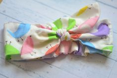 easter baby headband easter hair bow newborn cotton headband first easter outfit easter girl headwrap toddler knot headband spring headband by SweetSwaddle on Etsy
