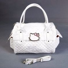 Hello Kitty Shopping Bag Handbag Tote Purse White --- http://www.pinterest.com.tocool.in/5je