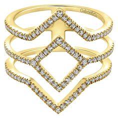 14k Yellow Gold Diamond Fashion Ladies' Ring | Gabriel