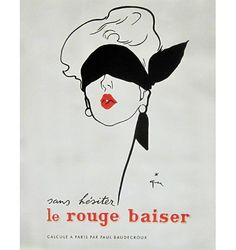 Renowned fashion illustrator Rene Gruau's artistic career began in the 1920s and continued right until his death in 2004. Gruau created a vast library of chic fashion illustrations, including pieces for Miss Dior, Vogue and Elle. Using strong lines and stark contrast, his illustrations made him a favourite in the haute couture world.