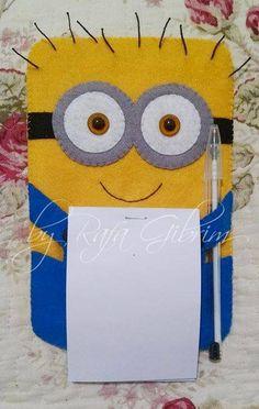 https://flic.kr/p/AX8ZYo | Porta bloco de anotações do Minion (modelo 2). | Aderindo à moda dos amarelinhos mais fofos dos desenhos, porta bloco de anotações do Minion (modelo 2).
