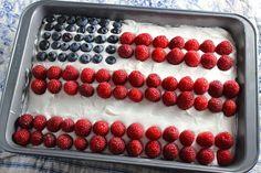 American Flag Cookies Tart