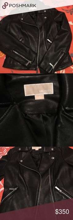 NWOT Michael Kors Real Leather Moto Jacket Brand new never worn, no tags. Real leather moto jacket by Michael Kors. I love it but I need it in a petite size!! MICHAEL Michael Kors Jackets & Coats
