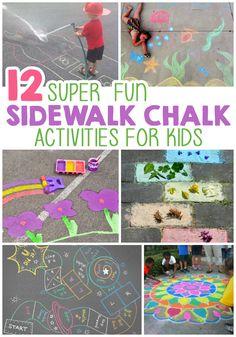 12 Super Fun Ways To Play With Sidewalk Chalk #ChalkFullofFun #ad @RoseArtFun
