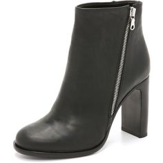 Rag & Bone Avery High Heel Booties ($425) ❤ liked on Polyvore featuring shoes, boots, ankle booties, black, black high heel booties, wide boots, black high heel boots, leather sole boots and leather ankle booties