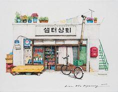 Có một Hàn Quốc đẹp không thốt nên lời qua tranh vẽ suốt 20 năm của người họa sĩ tài năng - Ảnh 11.