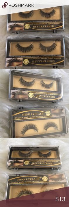 ONE Pair of 100% MINK Faux Lashes Long & Thick ONE Pair of 100% Handmade Natural MINK Falsies Lashes #015. So beautiful, so soft, light, long, and thick to complete a glamorous look! NWT/NIP. High quality! BUNDLE & SAVE! Makeup False Eyelashes