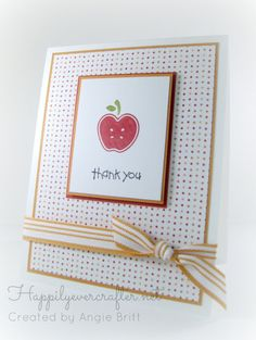 Stampin' Up Teacher Thank You Card by happilyevercrafter on Etsy, $3.25