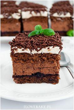 Ciasto Michałek - I Love Bake 3 Ingredient Chicken, Polish Recipes, Polish Food, Chicken Marinades, Chocolate Desserts, 3 Ingredients, No Bake Cake, Tiramisu, Food And Drink