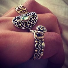 Pandora ring stack.