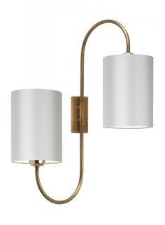 Bronte Antique Brass Wall Light - Heathfield & Co