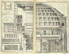 Il Pantheon di Roma nei bellissimi disegni del Palladio, 1570. Dottrina dell'Architettura Architetto David Napolitano