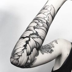 Dotwork leaves by Parvick