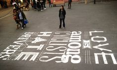 chalk by Tommaso Guerra in Rome featuring several Lost Type fonts