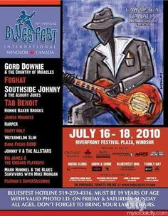2010 Festival Posters, Concert Posters, Festival Plaza, Windsor Canada, Gig Poster