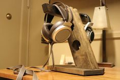 Custom Handmade Headphone Stand by WoodWarmth on Etsy, $110.00