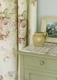 "Annie Sloan Chatteau Gray... THIS is FINALLY the Greeny-Grey, add 2 parts Old White and get ""Tamino"" a lighter green gray"