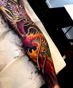 Another angle of Jimmys leg Japanese Leg Tattoo, Japanese Phoenix Tattoo, Japanese Legs, Japanese Dragon Tattoos, Japanese Tattoo Designs, Japanese Sleeve Tattoos, Twin Tattoos, Leg Tattoos, Body Art Tattoos