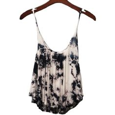 Dip Dye Tank in Black White Best Seller The Dandy Lion Boutique ($35) ❤ liked on Polyvore