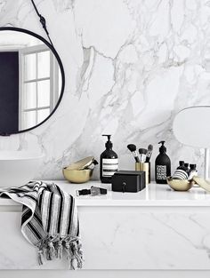 Modern Monochrome Marble Bathroom Decor