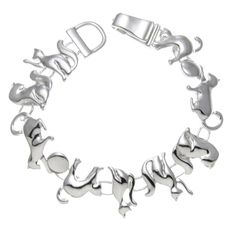 Silvertone Multiple Cat and Ball Magnetic Closure Bracelet - http://www.amazon.com/Silvertone-Multiple-Magnetic-Closure-Bracelet/dp/B00XAZIXEM