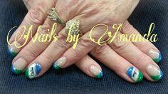 Seattle sea Hawk nails
