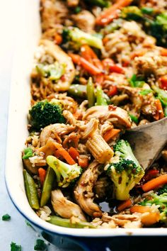 Easy Teriyaki Chicken Casserole is a simple casserole made with the best homemade teriyaki sauce filled with vegetable stir fry, rice and baked to perfection. A savory dish everyone loves! Teriyaki Chicken Casserole, Easy Teriyaki Chicken, Homemade Teriyaki Sauce, Baked Chicken, Chicken Recipes, Chicken Meals, Asian Casserole Recipe, Easy Casserole Recipes, Casserole Dishes